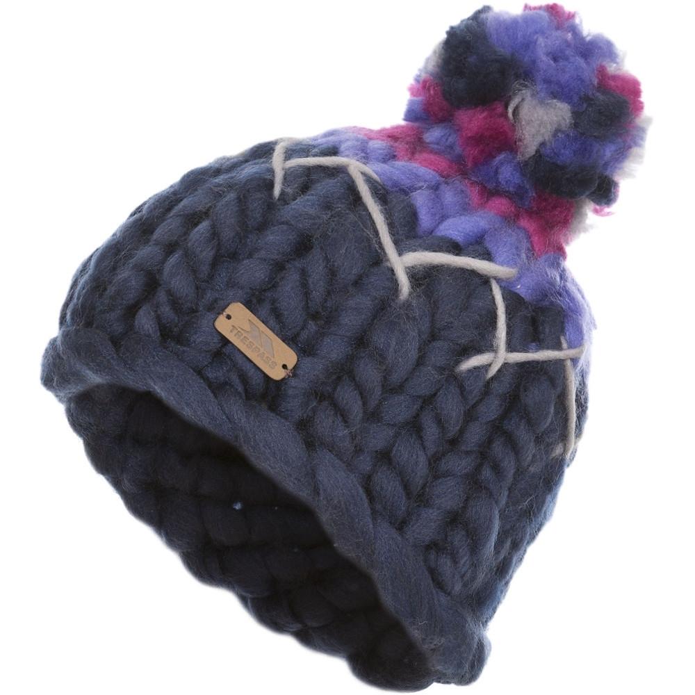 Trespass BoysandGirls Ellery Knitted Acrylic Pom Pom Beanie Hat 5-7 Years