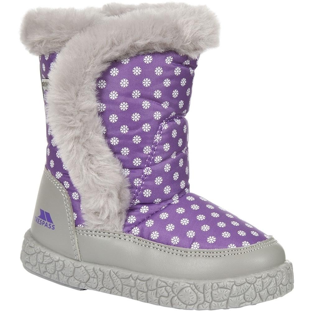 Trespass Girls Babies/toddlers Tigan Fleece Lined Winter Snow Boot Uk Size 10 (eu 28  Us 11)