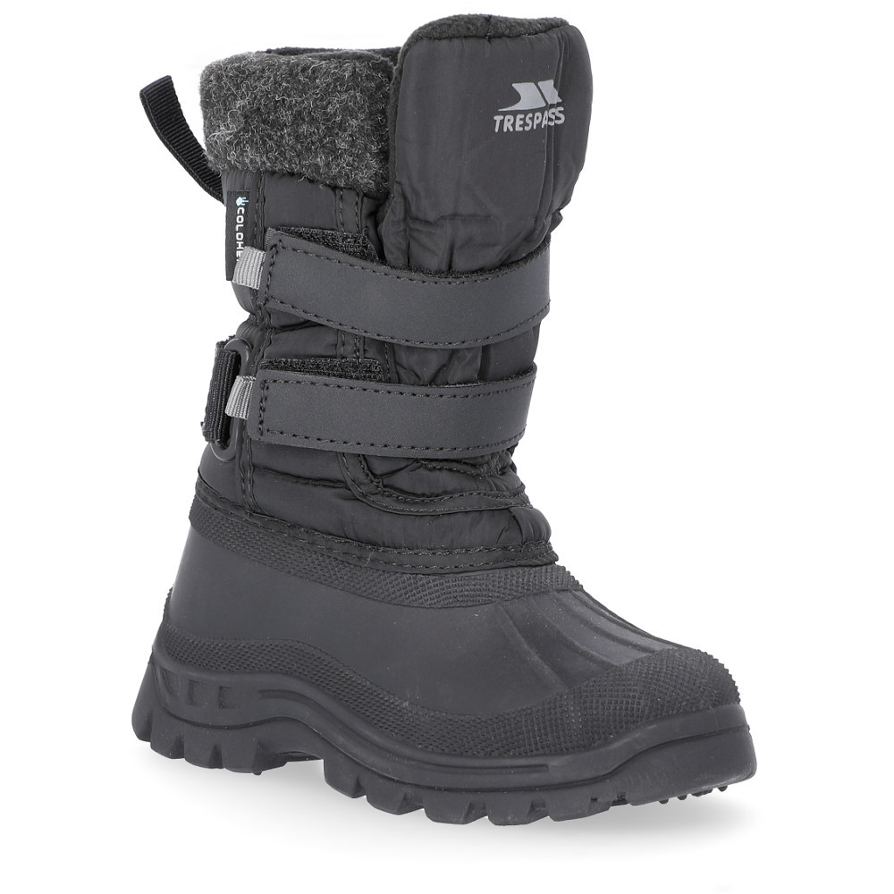 Trespass Boys Strachan Ii Insulated Waterproof Fleece Lined Snow Boots Uk Size 10 (eu 28  Us 11)