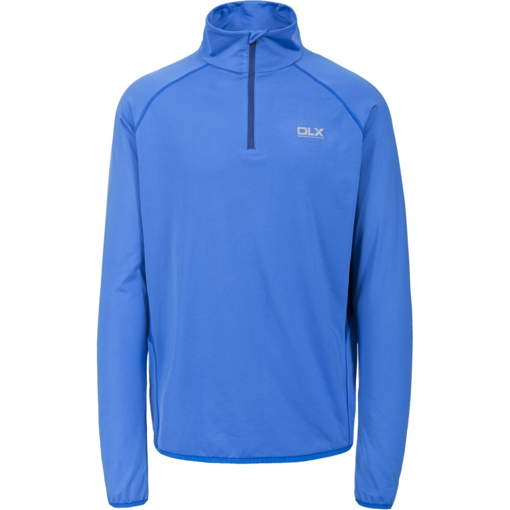 Trespass Mens Brennen Polyester Half Zip Long Sleeved Quickdry Dlx Top Xs - Chest 32-34 (83-88cm)