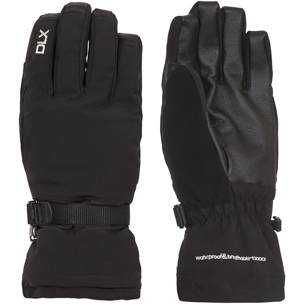 Trespass Mens Spectre Waterproof Breathable Padded Dlx Stretch Gloves Extra Large