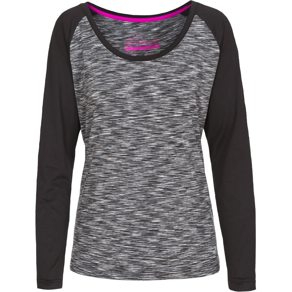 Trespass Womens/ladies Miso Knitted Long Sleeved Quick Dry Active Top L - Bust 38 (96.5cm)