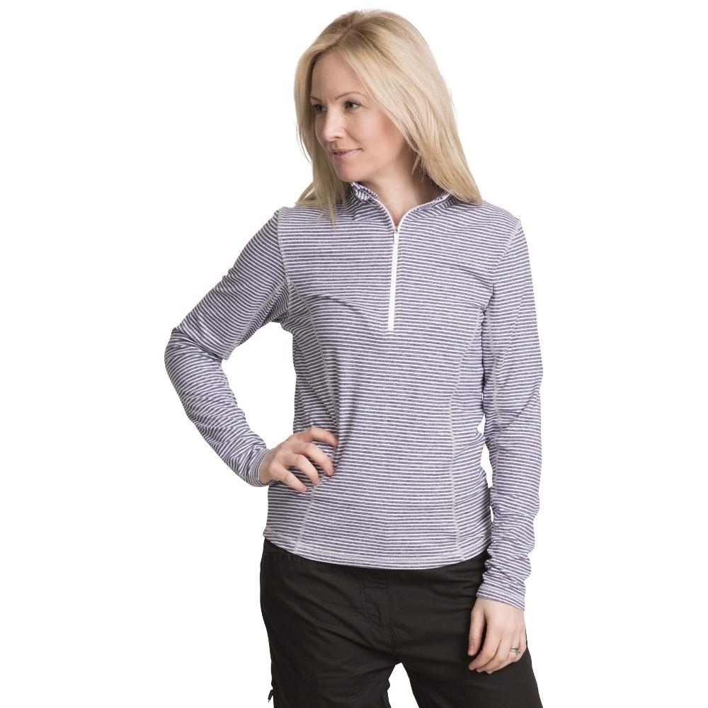 Trespass Womens/ladies Overjoy Half Zip Long Sleeved Wicking Top Xs - Bust 32 (81cm)