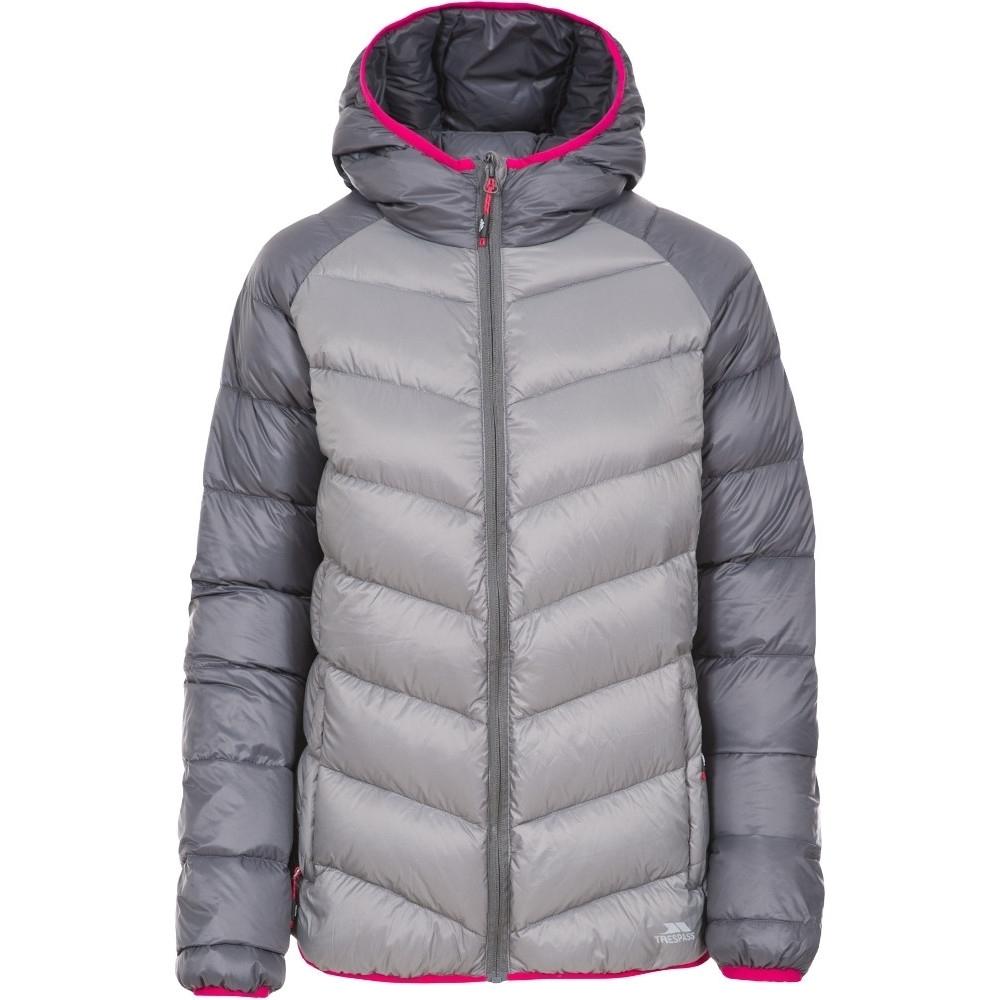 Trespass Womens/Ladies Kirstin Polyamide Hooded Shell Down Jacket Coat XXS - Bust 30 (76cm)