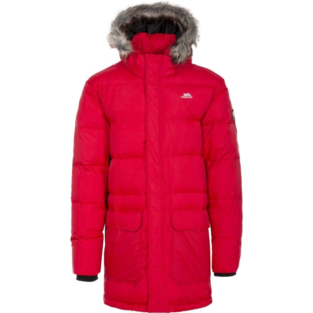 Trespass Mens Baird Polyamide Polyester Zip Off Hood Down Jacket Coat S - Chest 35-37 (89-94cm)