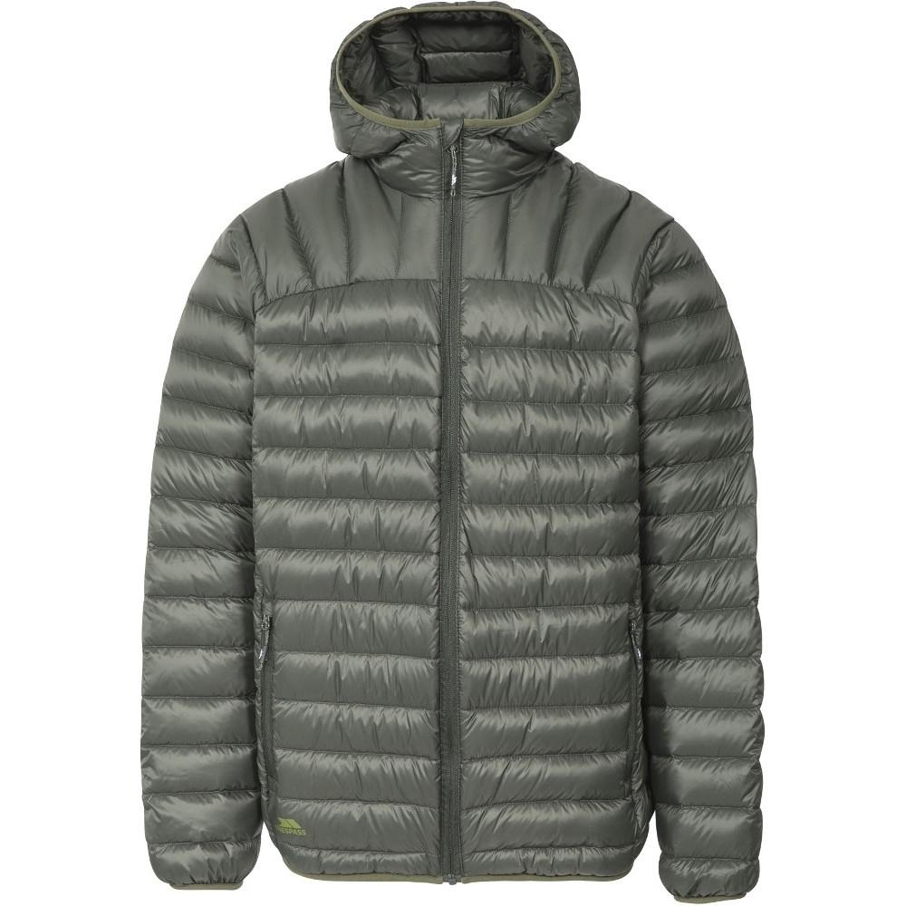 Trespass Mens Romano Ultra Lightweight Hooded Packable Down Jacket Xxl - Chest 46-48 (117-122cm)