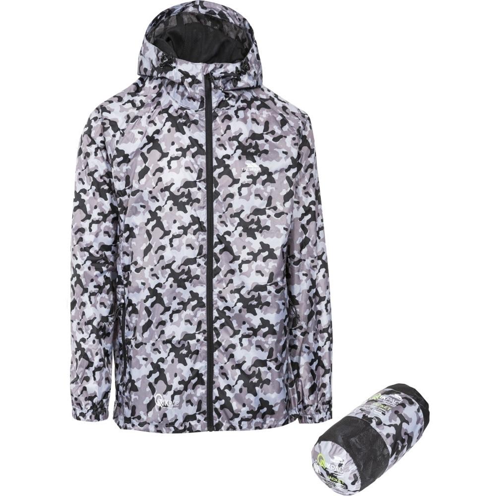 Trespass MensandWomens/ladies Waterproof Qikpac Print Packaway Jacket Xl - Chest 44-46 (111.5-117cm)
