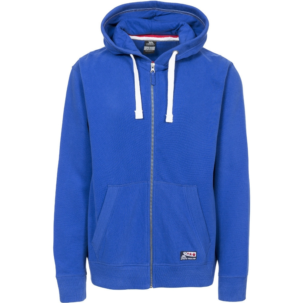 Trespass Mens Wreath Knitted Cotton Full Zip Adjustable Hoodie Hoody L - Chest 41-43 (104-109cm)
