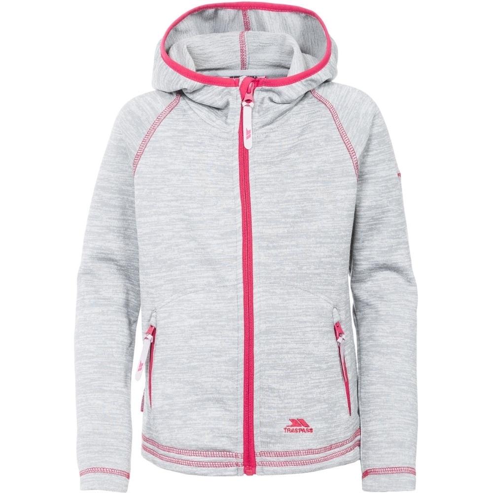 Trespass Girls Goodness Polyester Full Zip Hooded Fleece Jacket 5-6 Years - Height 45  Chest 24 (61cm)