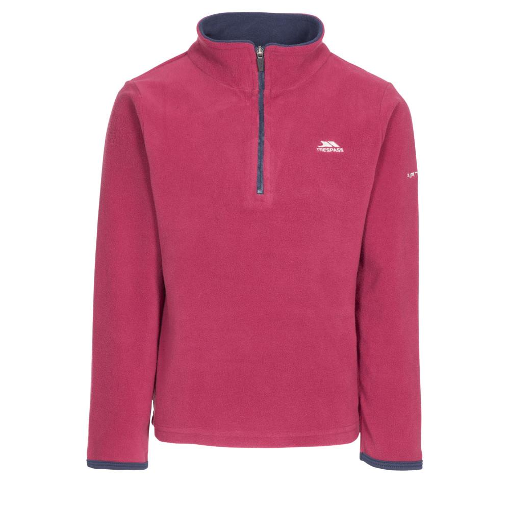 Trespass Girls Sybil Knitted Polyester Half Zip Micro Fleece Jacket 2-3 Years- Chest 21 (53cm)