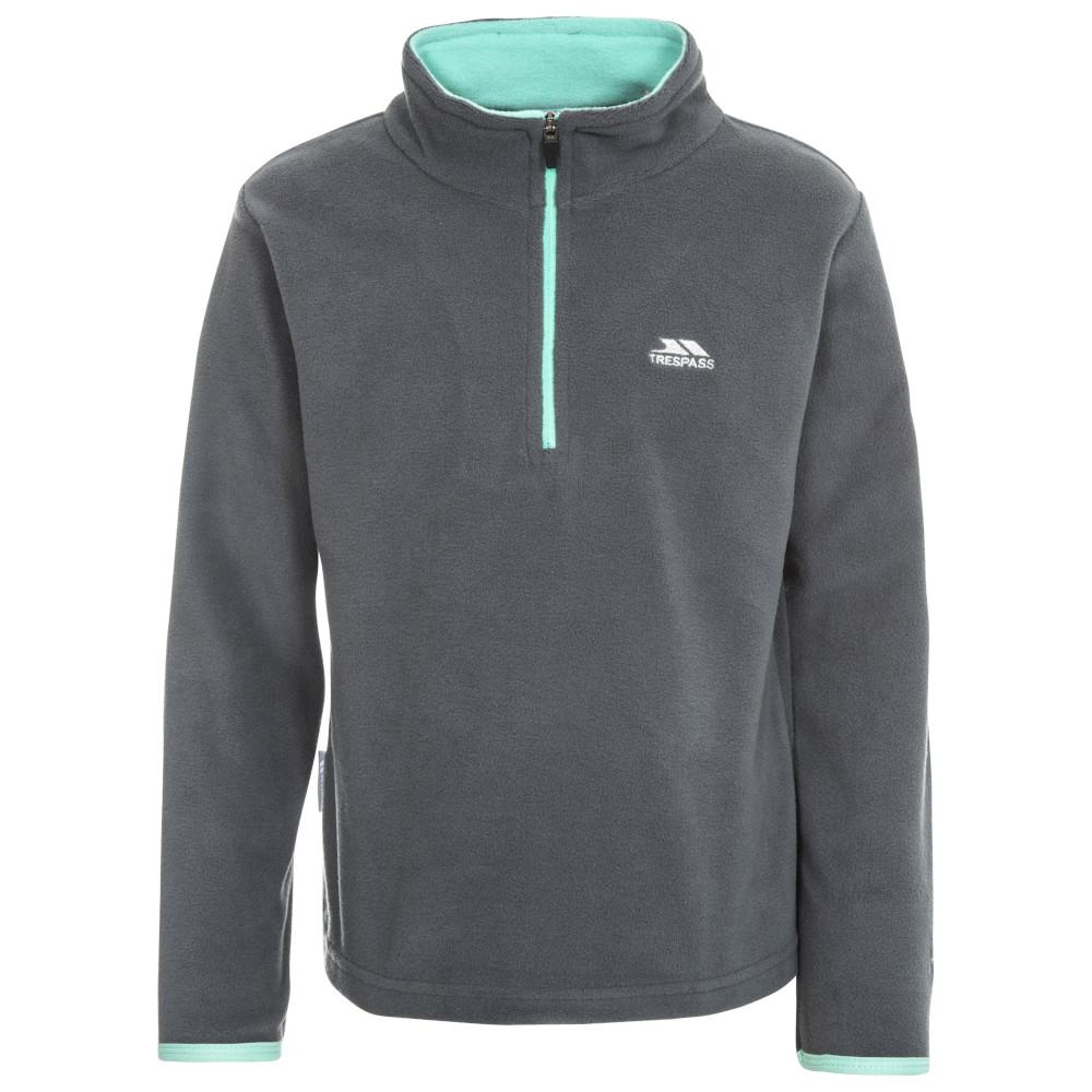 Trespass Girls Sybil Knitted Polyester Half Zip Micro Fleece Jacket 9-10 Years- Chest 28 (71cm)
