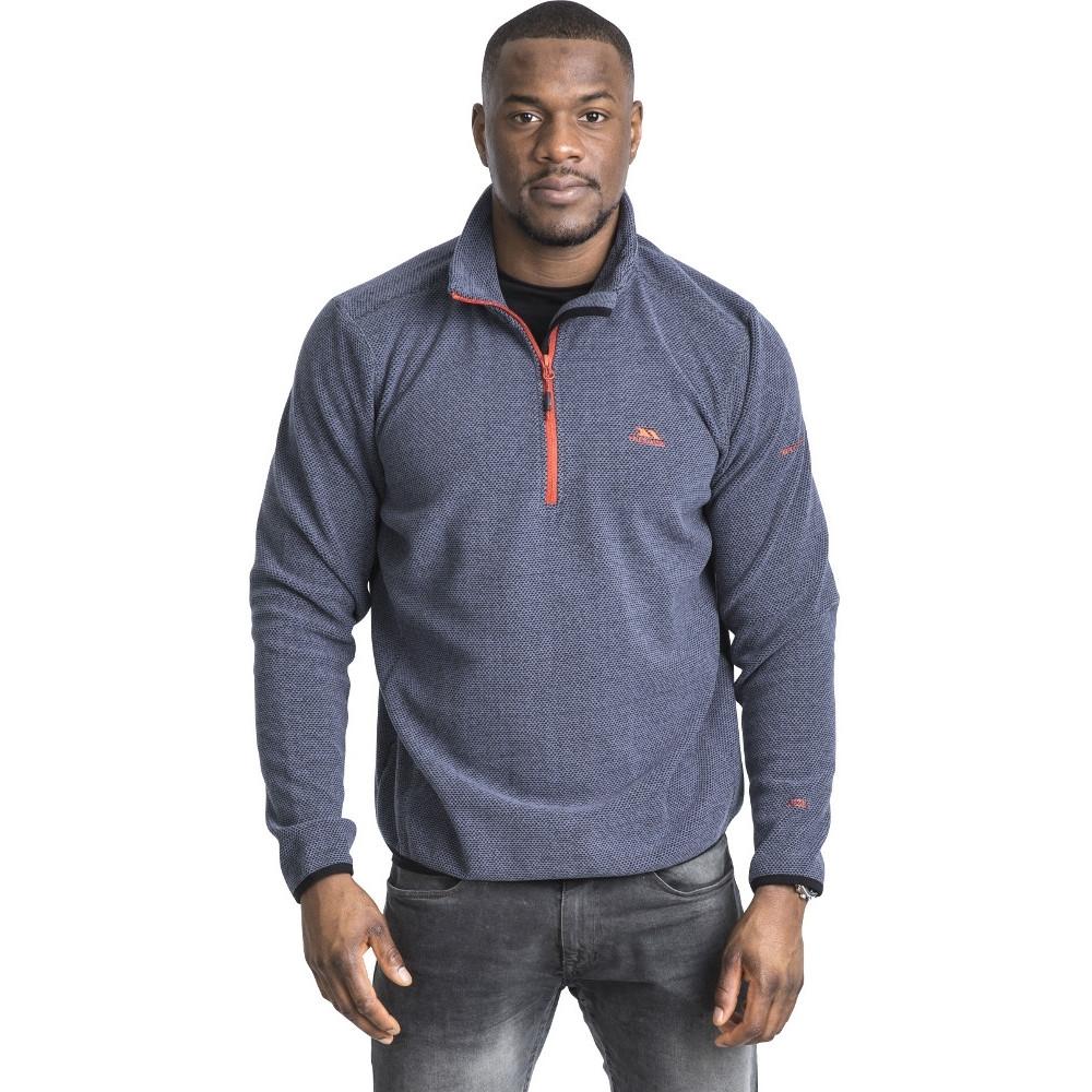 Image of Trespass Mens Limber Half Zip Outdoor Walking Fleece Jacket Top XXS - Chest 29-31' (77-82cm)