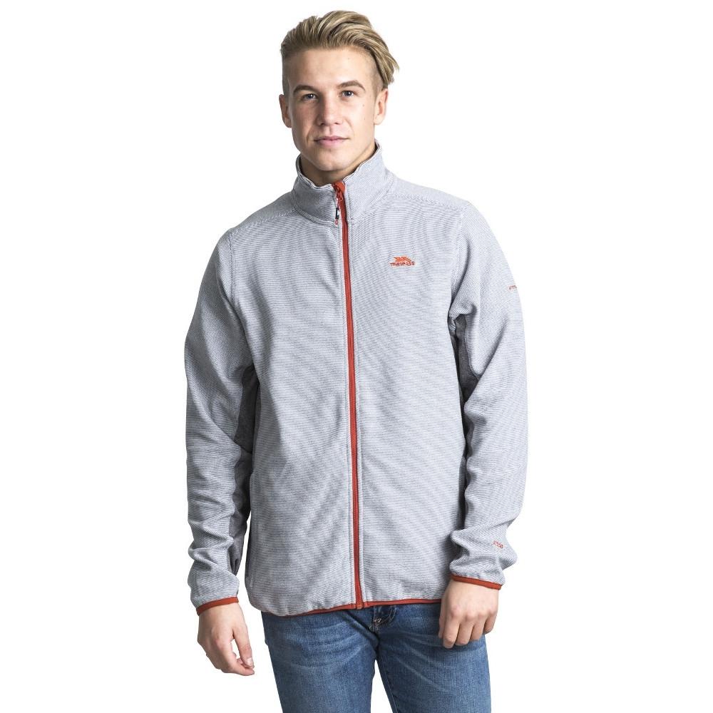 Trespass Mens Mirth Polyester Zip Fleece Outdoor Walking Jacket Top Xxs - Chest 29-31 (77-82cm)