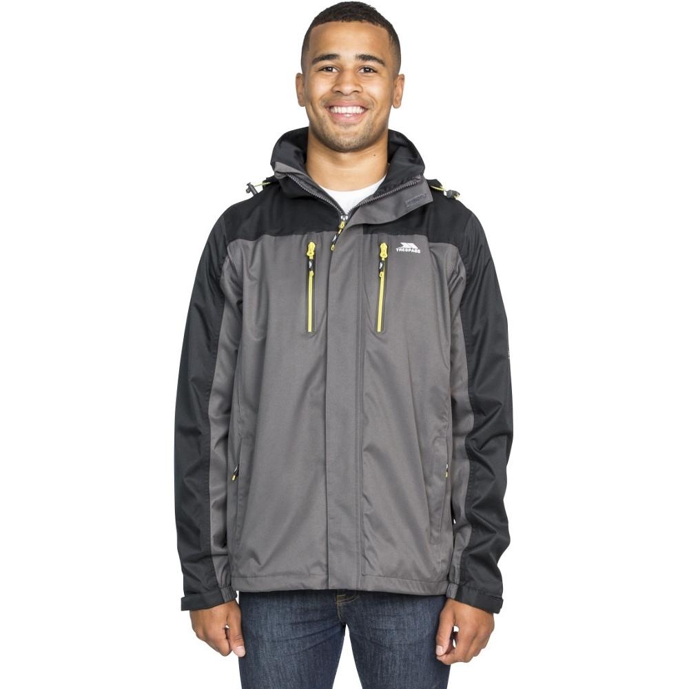 Trespass Mens Wooster Detachable Hood Zip Waterproof Jacket Coat Xl - Chest 44-46 (111.5-117cm)