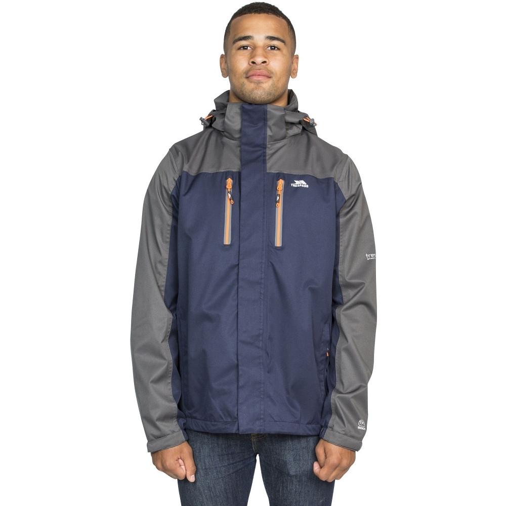 Trespass Mens Wooster Detachable Hood Zip Waterproof Jacket Coat L - Chest 41-43 (104-109cm)