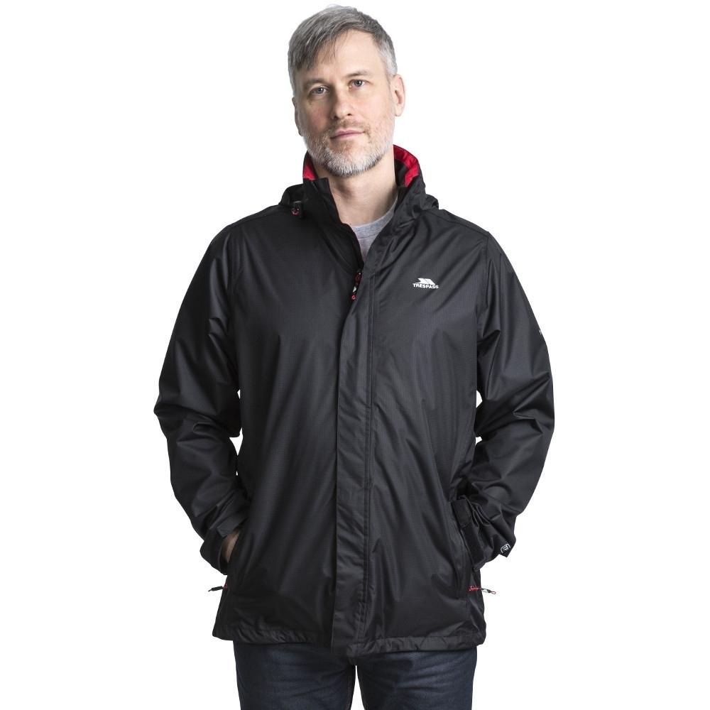 Trespass Mens Fraserii Hooded Waterproof Wicking Zip Jacket Coat  Xxs - Chest 29-31 (77-82cm)