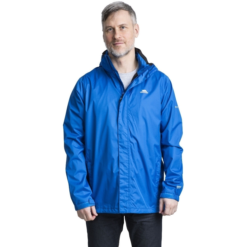 Trespass Mens Fraserii Hooded Waterproof Wicking Zip Jacket Coat  M - Chest 38-40 (96.5-101.5cm)