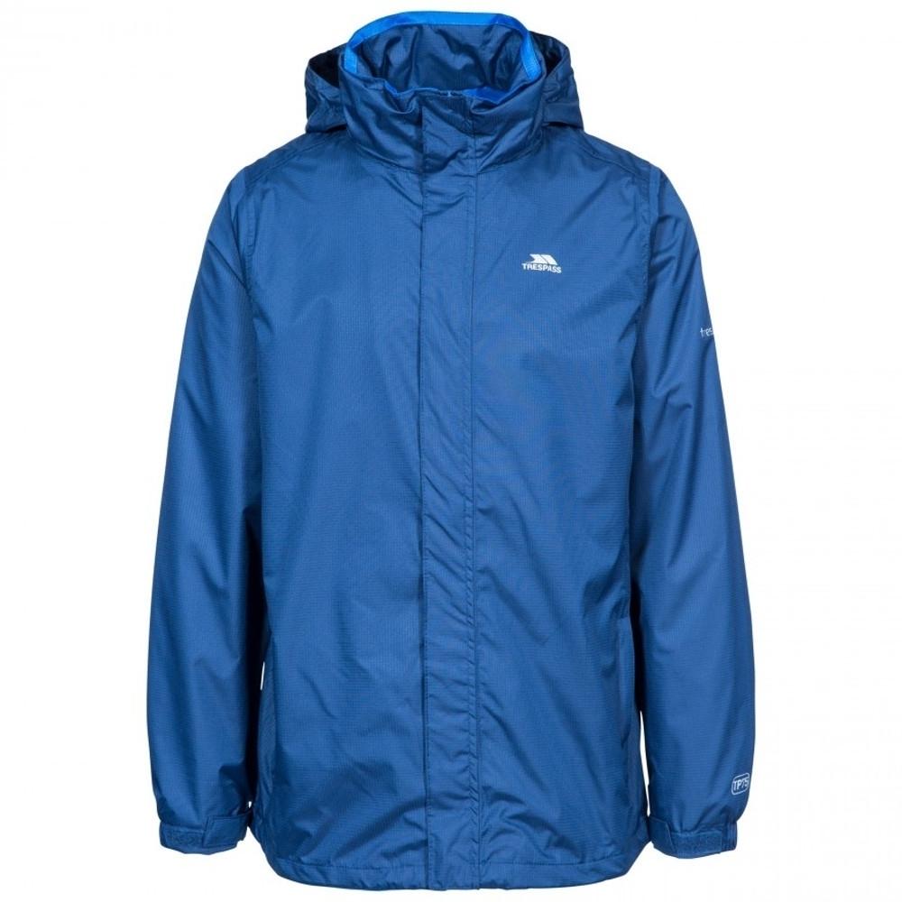 Trespass Mens Fraserii Hooded Waterproof Wicking Zip Jacket Coat L - Chest 41-43 (104-109cm)