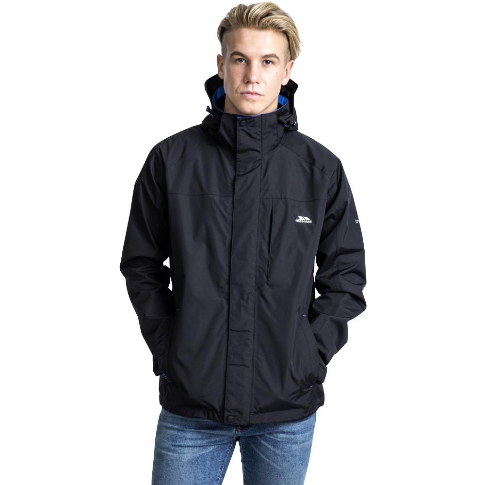 Trespass Mens Edwardsii Hooded Waterproof Breathable Jacket Coat L - Chest 41-43 (104-109cm)