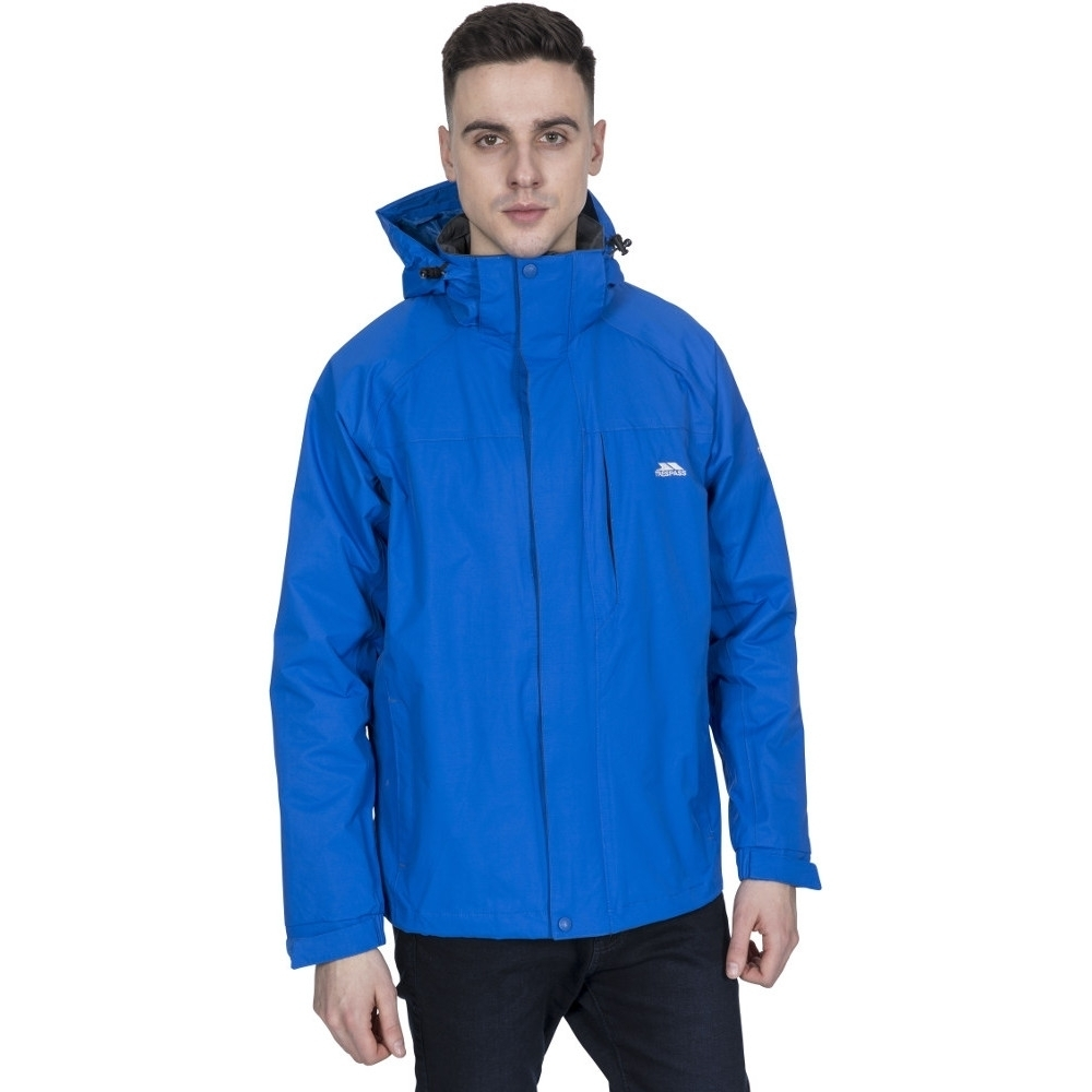 Trespass Mens Edwardsii Hooded Waterproof Breathable Jacket Coat Xxl - Chest 46-48 (117-122cm)