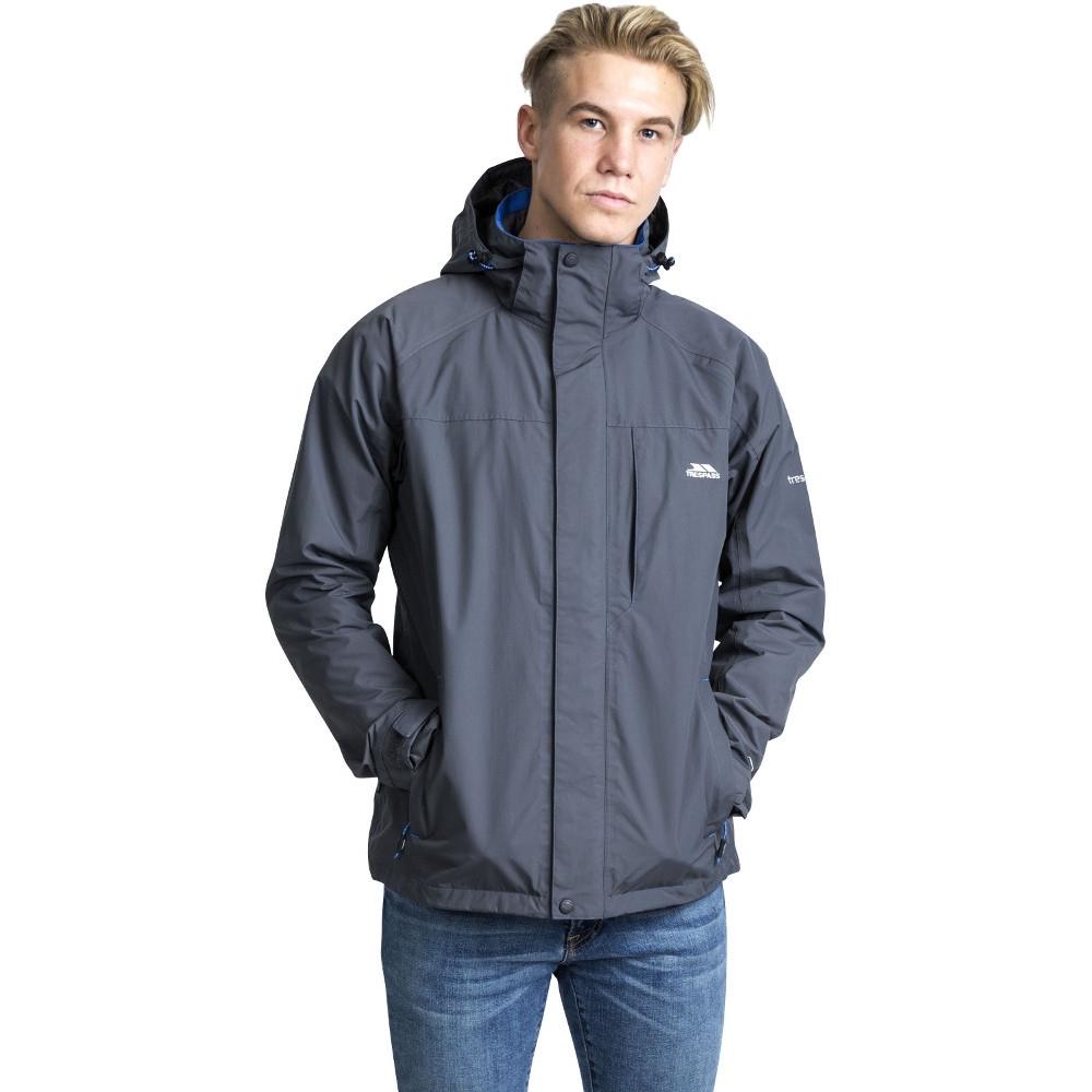 Trespass Mens Edwardsii Hooded Waterproof Breathable Jacket Coat Xl - Chest 44-46 (111.5-117cm)