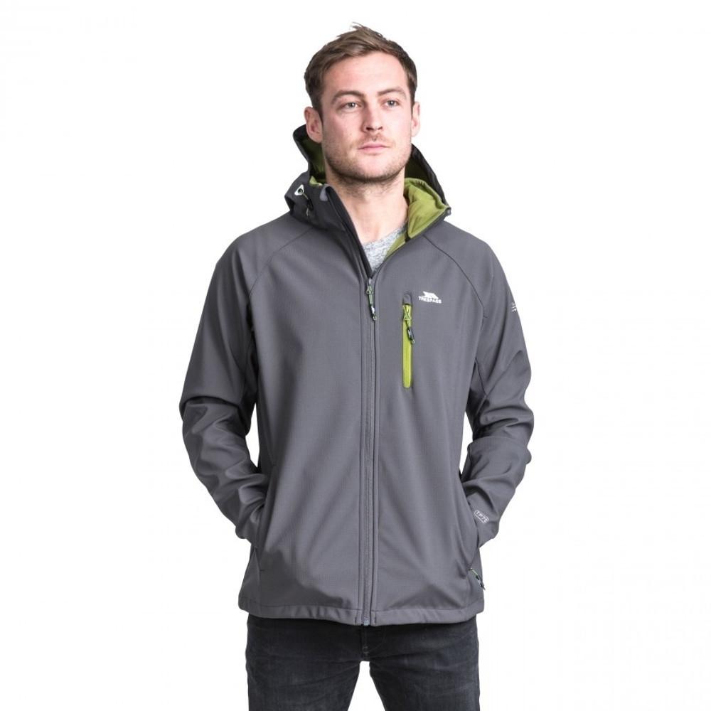 Trespass Mens Nider Hooded Waterproof Zip Softshell Jacket Coat XXL - Chest 46-48' (117-122cm)