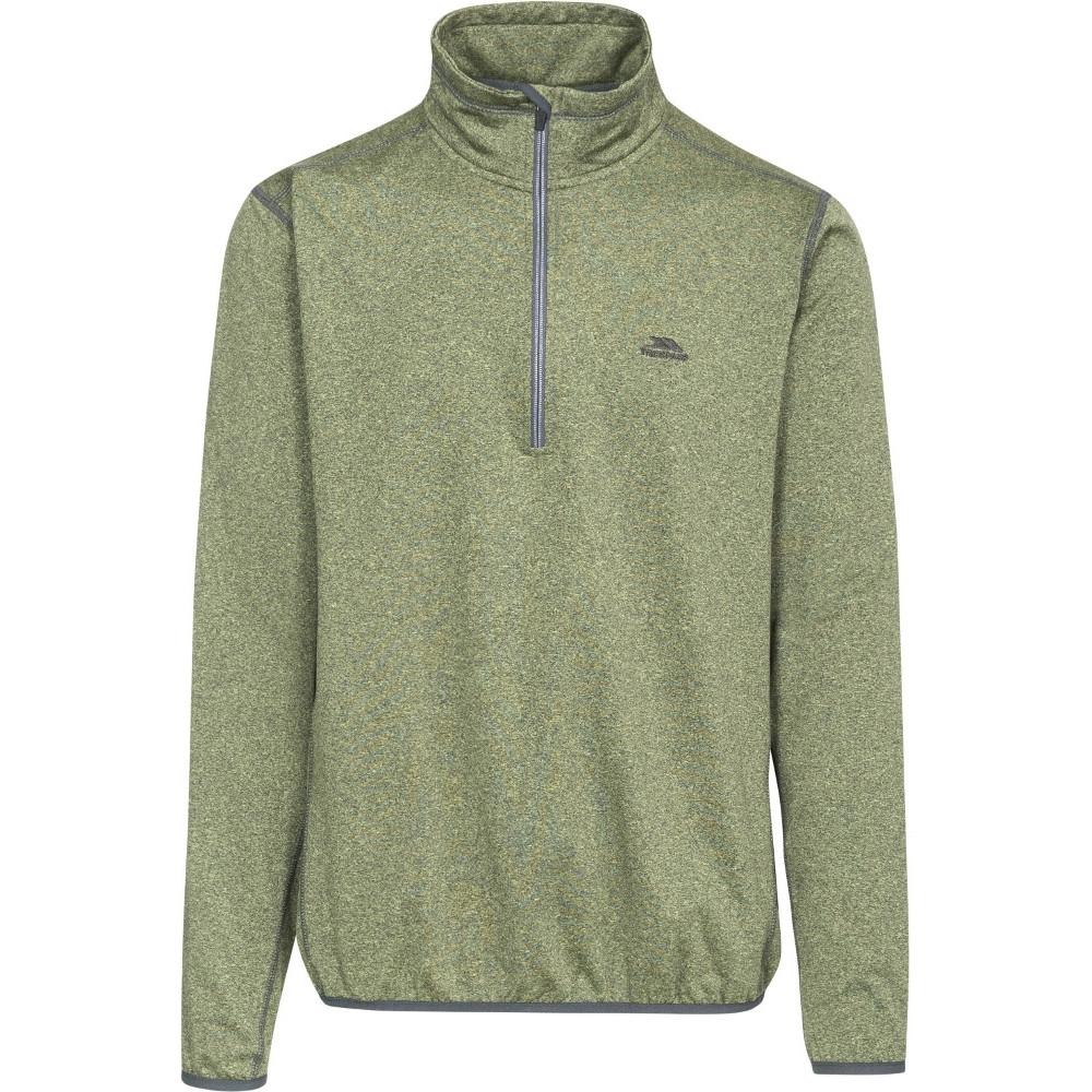 Trespass Mens Tarned Half Zip Quick Dry Polyester Fleece Jacket Top Xxl - Chest 46-48 (117-122cm)
