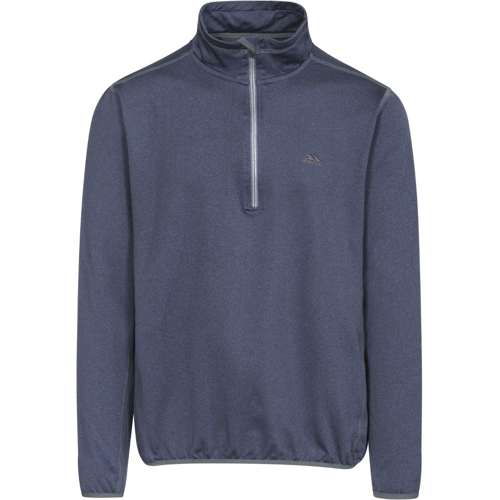 Trespass Mens Tarned Half Zip Quick Dry Polyester Fleece Jacket Top Xs - Chest 32-34 (83-88cm)
