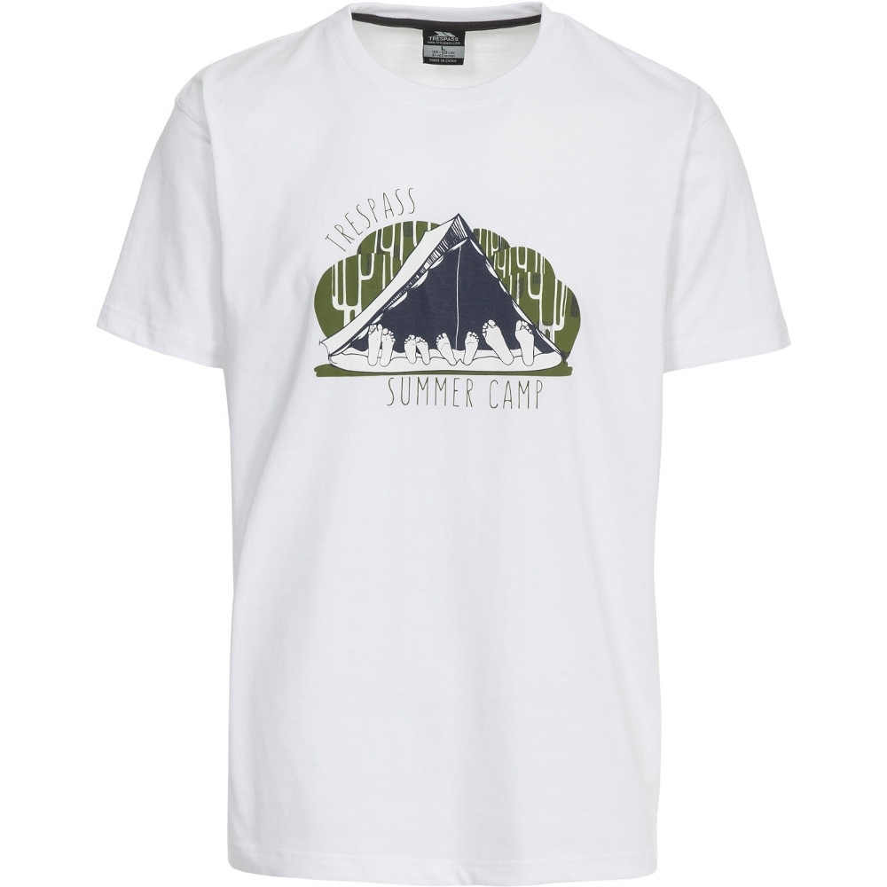 Trespass Mens Camp Short Sleeve Printed Casual Sports T-shirt Xxs - Chest 29-31 (77-82cm)