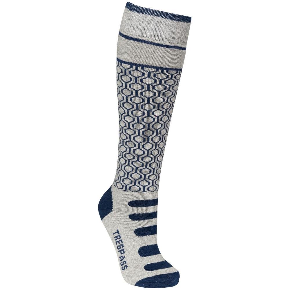 Trespass GirlsandBoys Concave Supportive Snowsport 2 Pack Skiing Socks Uk Size 9-12