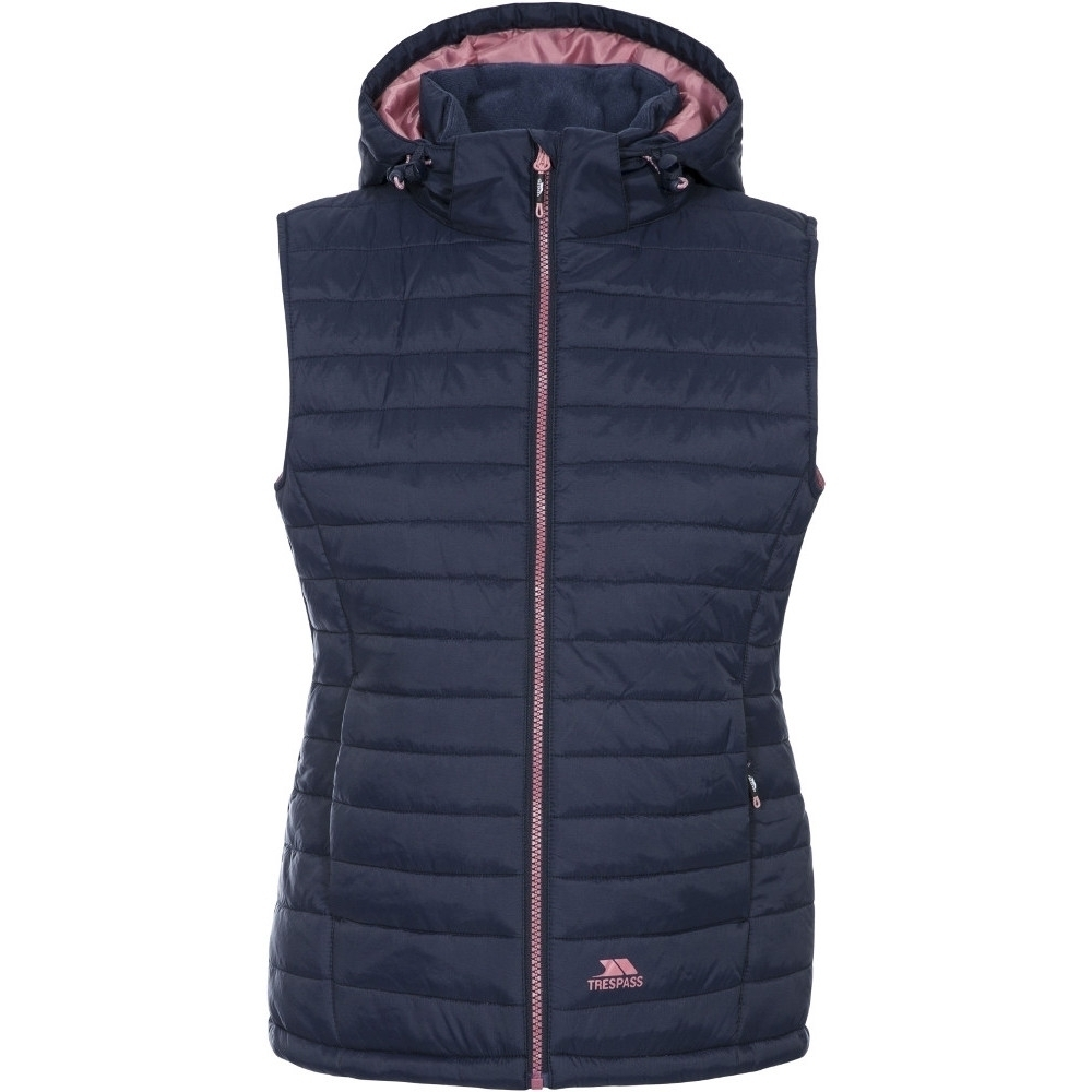 Image of Trespass Womens/Ladies Aretha Padded Hooded Walking Gilet Bodywarmer L- UK 14 Bust 38' (96.5cm)