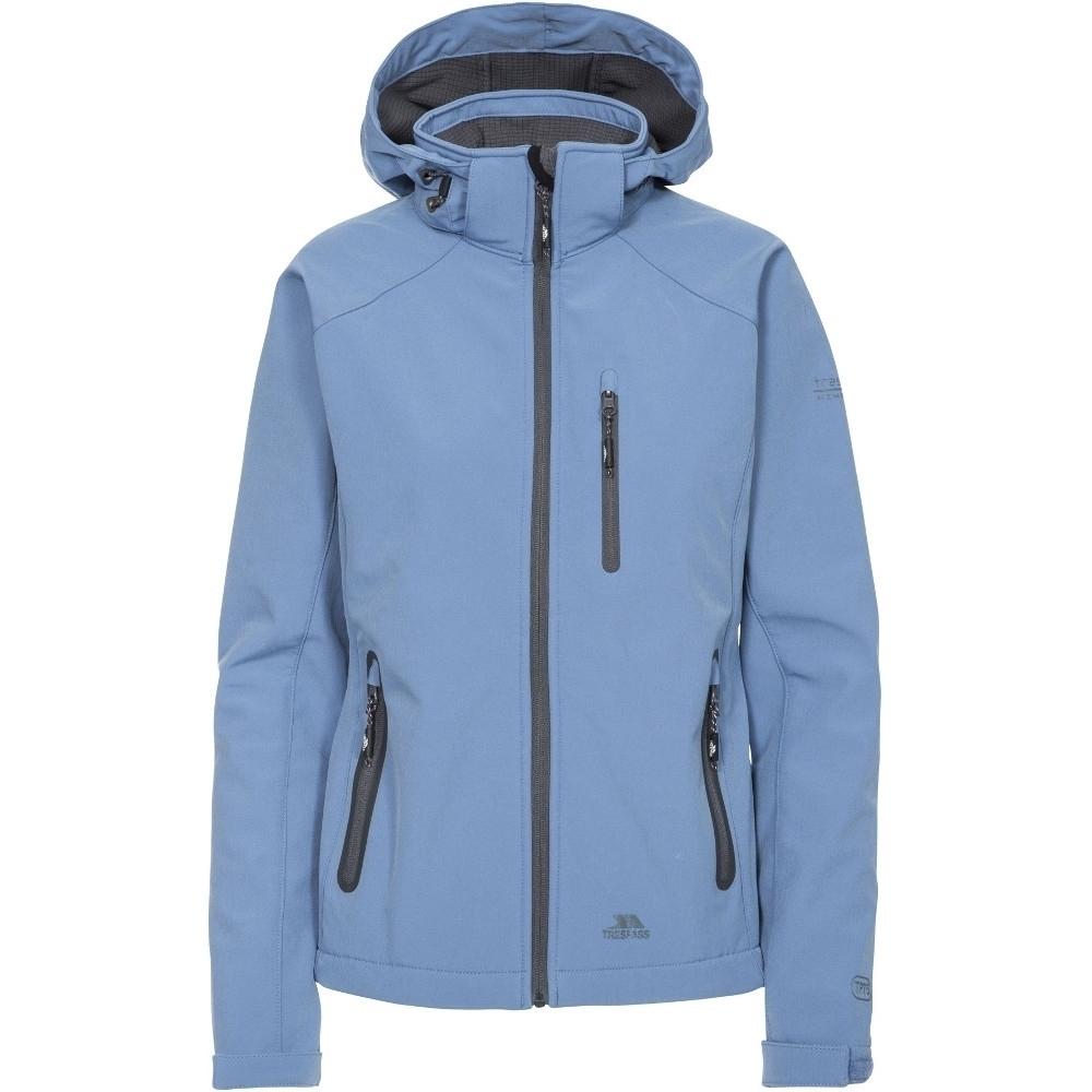 Trespass Womens/ladies Bela Ii Waterproof Breathable Softshell Coat Xs- Uk 8  Bust 32 (81cm)