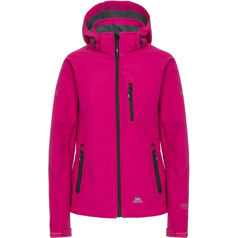 Trespass Womens Bela II Waterproof Softshell Jacket with Removable Hood