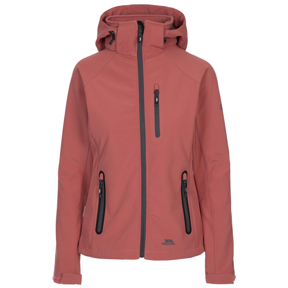 Trespass Womens/ladies Bela Ii Waterproof Breathable Softshell Coat L- Uk 14  Bust 38 (96.5cm)