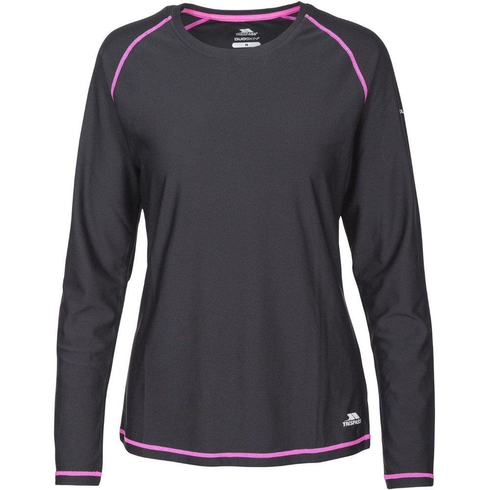 Trespass Womens/ladies Hasting Quick Dry Wicking Long Sleeve Top 6/xxs - Bust 78cm)
