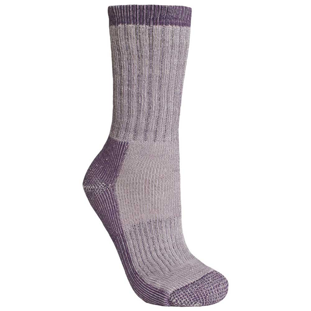 Product image of Trespass Womens Springer Heavy Trekking Walking Socks Grey