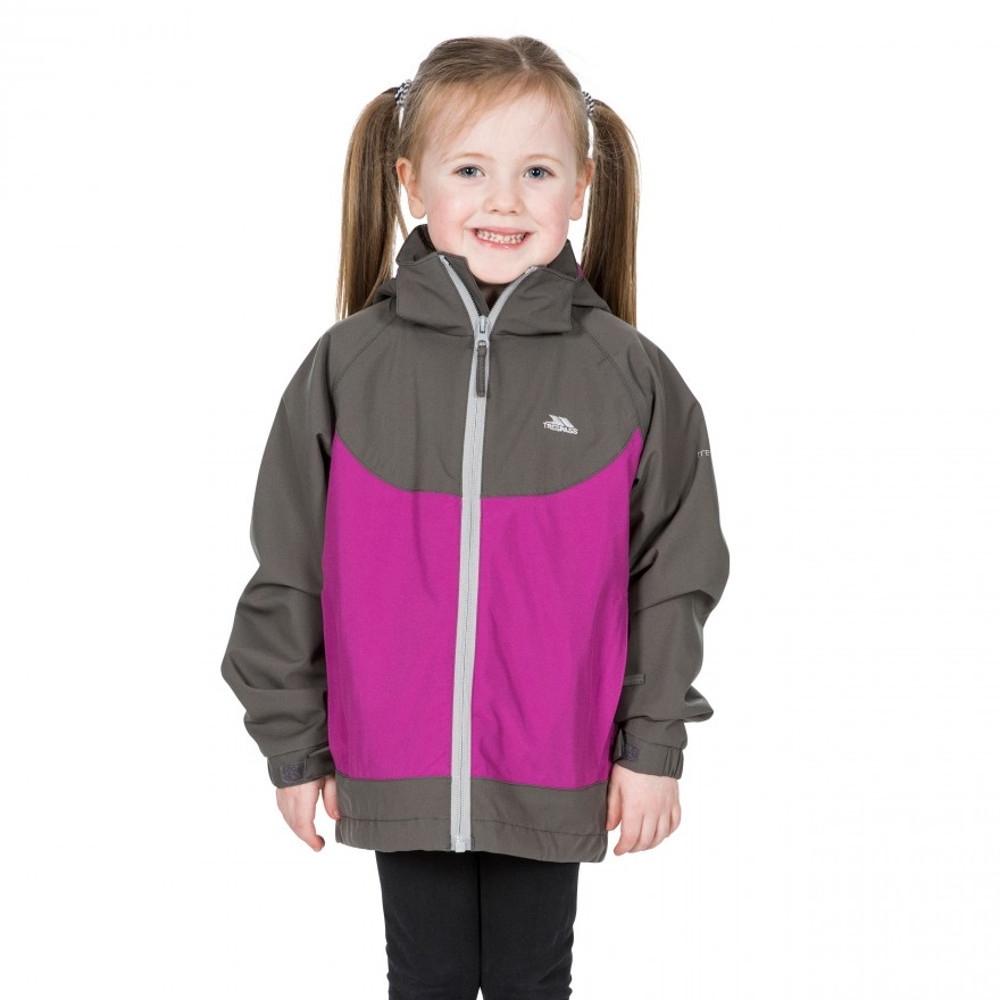 Trespass Girls Novah Tp75 Waterproof Breathable Zip Up Coat 3-4 - Chest 22 (chest 56cm)