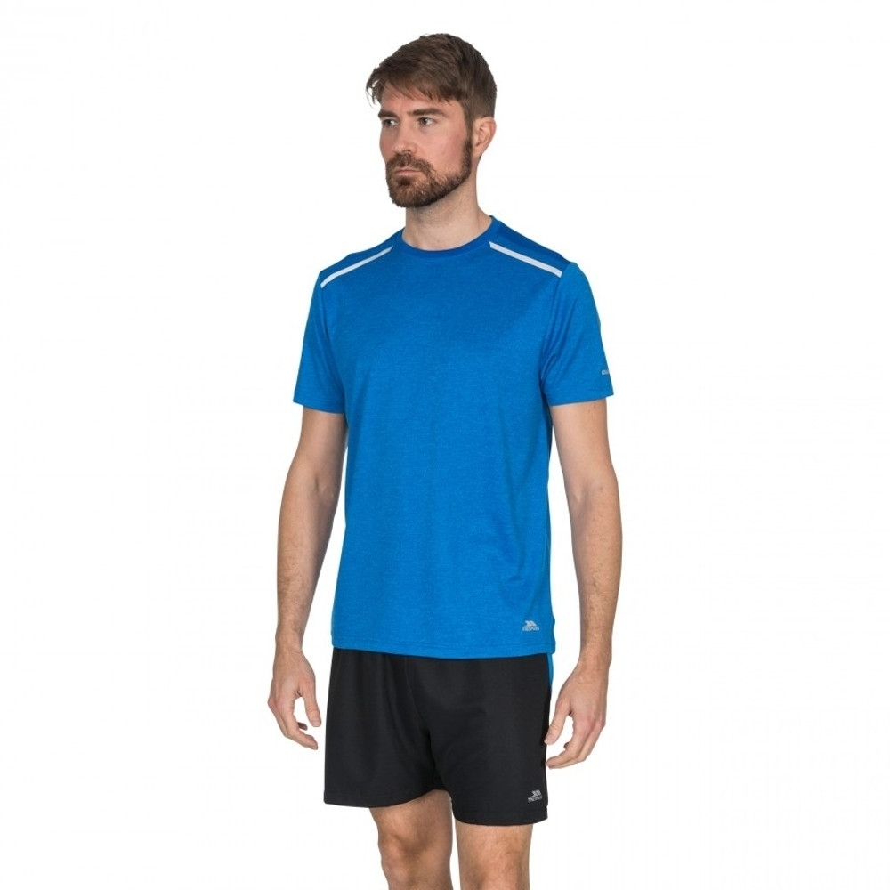 Trespass Mens Astin Short Sleeve Fitness Running T Shirt M - Chest 38-40 (96.5-101.5cm)