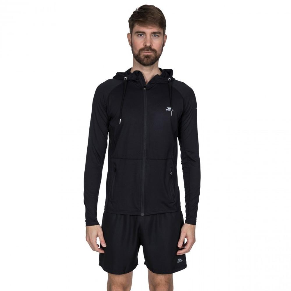Trespass Mens Bryden Full Zip Quick Dry Active Hoodie Jacket Xs - Chest 33-35 (84-89cm)