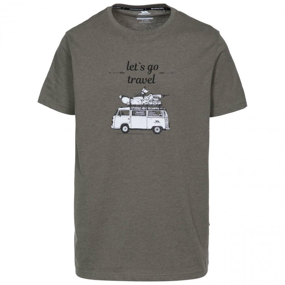 Trespass Mens Motorway Short Sleeve Graphic T Shirt Xs - Chest 33-35 (84-89cm)