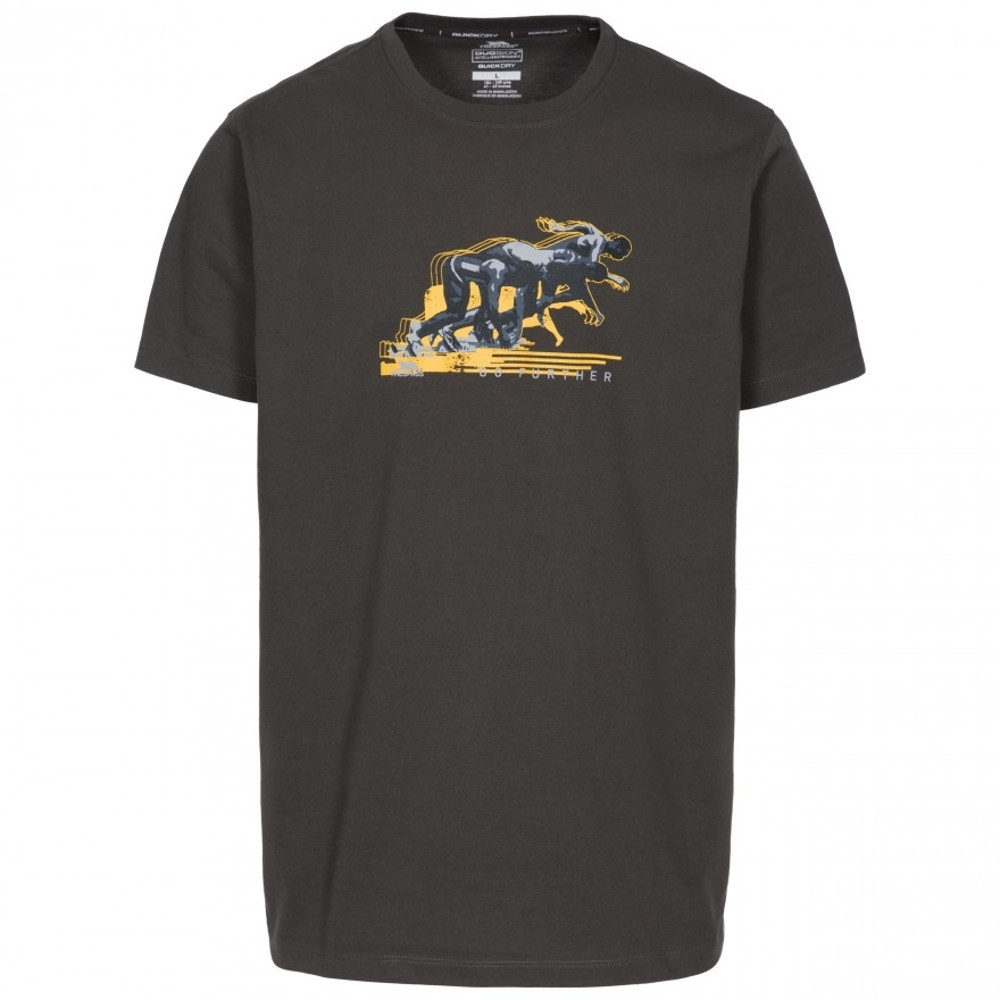 Trespass Mens Fastest Quick Dry Graphic Short Sleeve T Shirt S - Chest 35-37 (89-94cm)