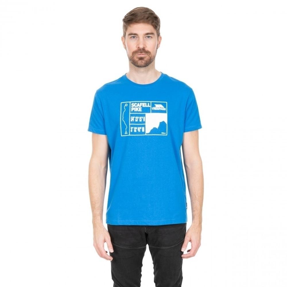 Trespass Mens Scafel Wicking Short Sleeve Graphic T Shirt S - Chest 35-37 (89-94cm)