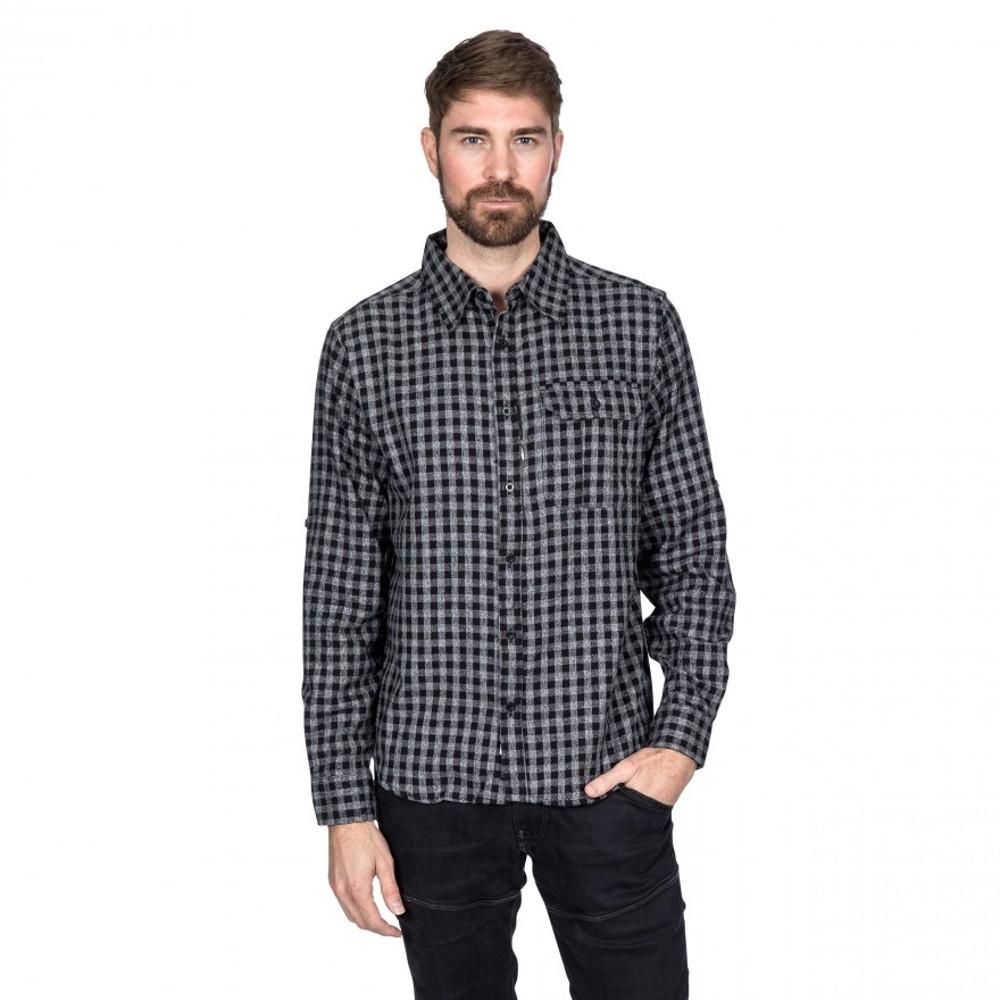 Trespass Mens Participate Long Sleeve Checked Cotton Shirt M - Chest 38-40 (96.5-101.5cm)
