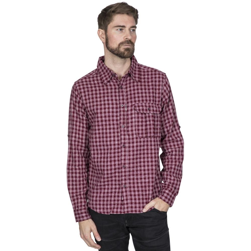 Trespass Mens Participate Long Sleeve Checked Cotton Shirt M- Chest 38-40 (96.5-101.5cm)