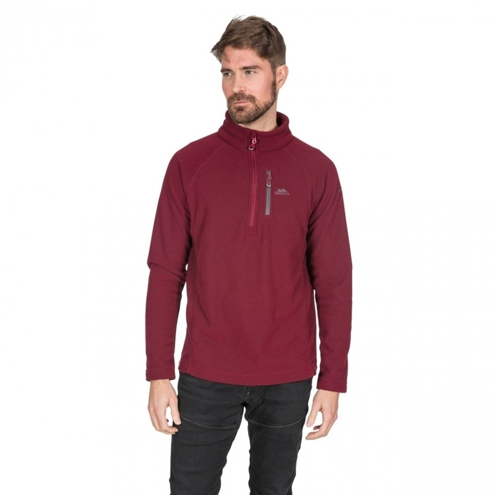 Image of Trespass Mens Structual Half Zip Warm Soft Fleece Top L - Chest 41-43' (104-109cm)