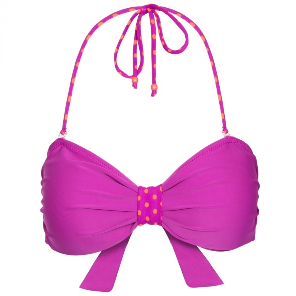 Trespass Womens Aubrey Tie Back Summer Bandeau Bikini Top 14/l - Bust 38 (96.5cm)