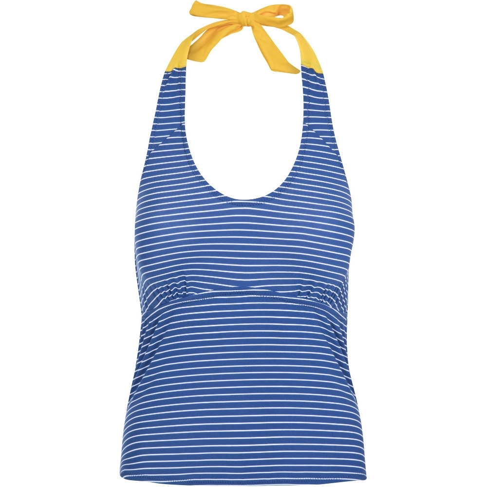Trespass Womens Winona Tie Neck Contrast Summer Tankini Top 8/xs - Waist 25 (66cm)