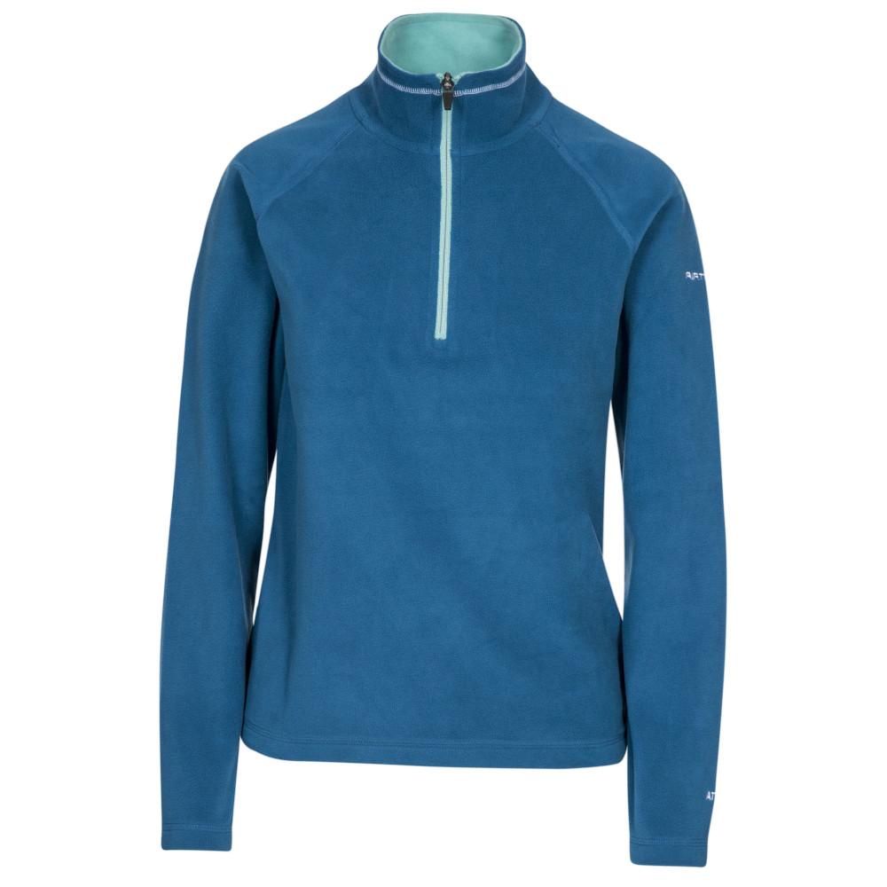 Trespass Womens Skylar At100 Half Zip Microfleece Jacket 12/m - Bust 36 (91.4cm)