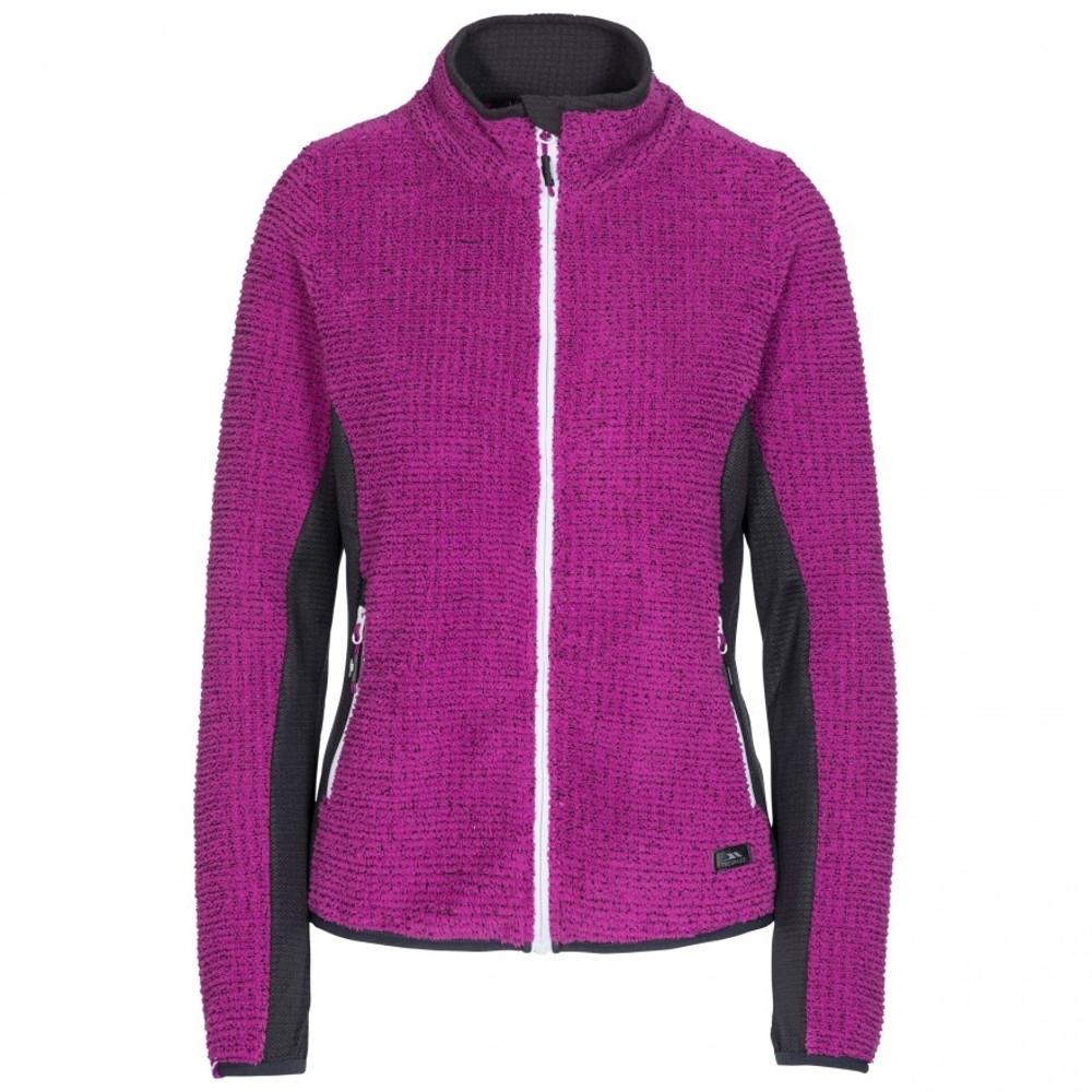 Trespass Womens Liggins Full Zip Airtrap Fleece Jacket 6/xxs - Bust 31 (78cm)