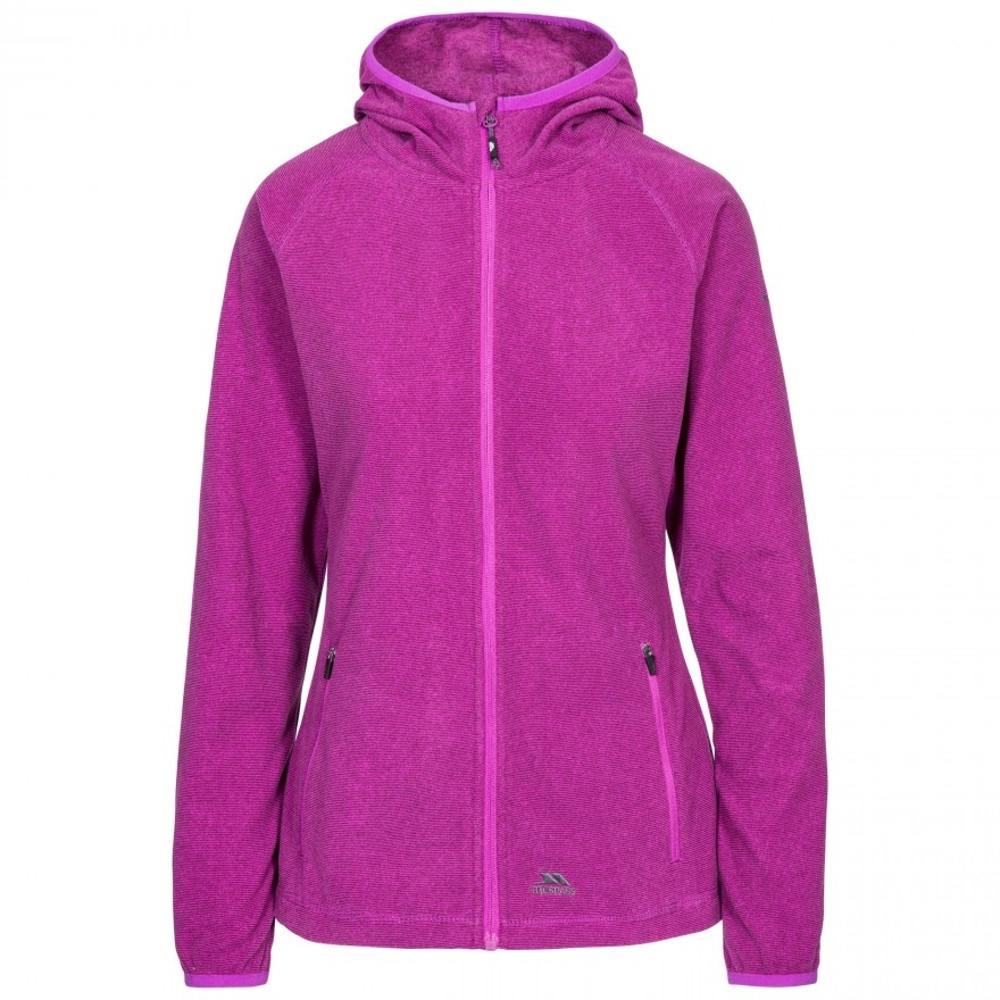 Trespass Womens Jennings At100 Full Zip Microfleece Jacket 10/s - Bust 34 (86cm)